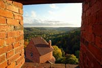 View from the tower of Turaida castle