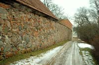 Western wall of Slokenbeka castle from the outside