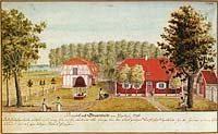 Gravenheide manor in 1796