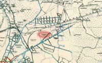 Veiers manor in the map from 1930