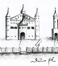 Castle of Riga in 14th century
