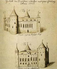 Riga medieval castle in 16th century