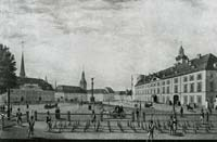 Riga Castle Square in the beginning of 19th century.