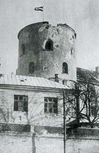 Riga castle after the attack of Bermont in November 1919
